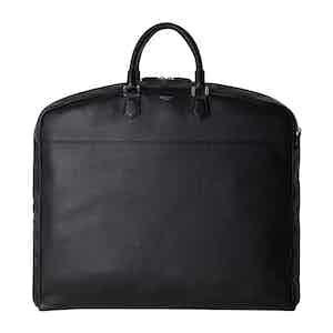 Black Cachemire Leather Suit Carrier