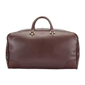 Chocolate Leather Hingham Holdall