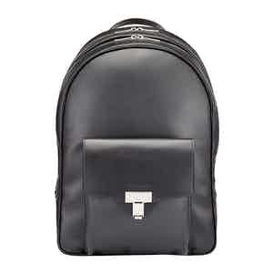 Black Leather Seaton Backpack
