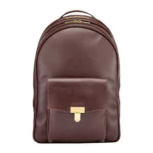 Chocolate Leather Seaton Backpack