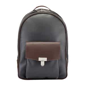 Chocolate and Pewter Leather Seaton Backpack