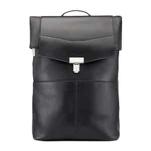 Black Leather Gainsborough Backpack