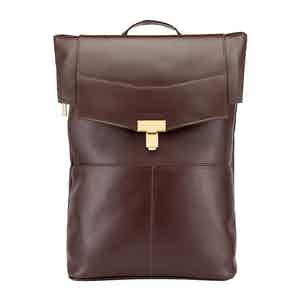 Chocolate Leather Gainsborough Backpack