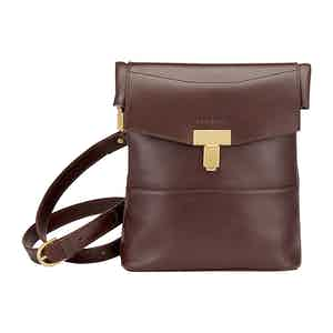 Chocolate Leather Ripon Reporter Bag