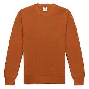 Orange Wool Crew Neck Sweater