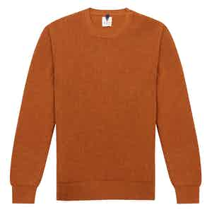 Orange Wool Crew Neck Sweater