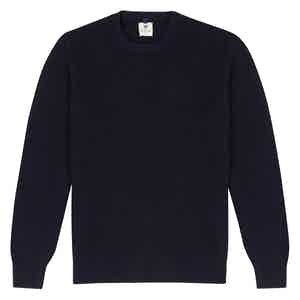 Navy Wool Crew Neck Sweater