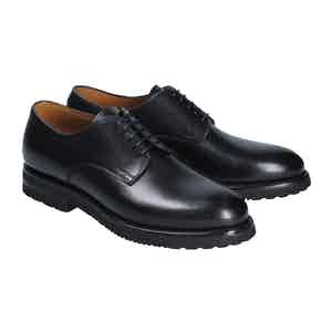 Black Calf Leather Derby Shoes
