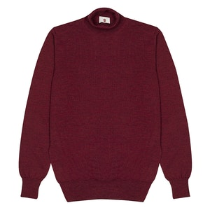 Red Cashmere Blend Classic Turtleneck