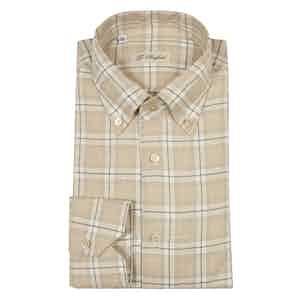 Beige Brushed Cotton Shirt