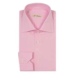 Pink Micro-Check Vichy Cotton Poplin Shirt