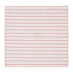 Pink and Grey Striped Cotton Pocket Square