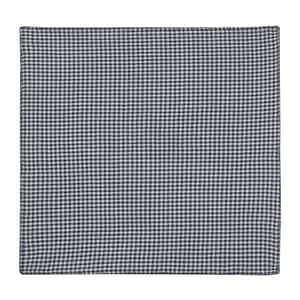 Navy Gingham Cotton Twill Pocket Square