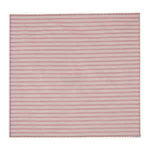 Striped Orange Cotton Poplin Pocket Square