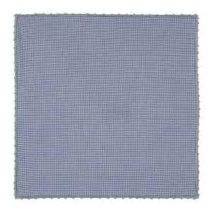 Blue Micro-Check Vichy Poplin Pocket Square