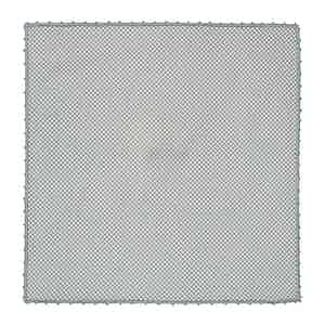 Grey Diamond Print Cotton Pocket Square