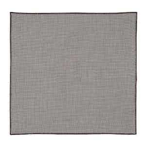 Brown Cotton Poplin Scalloped Pocket Square