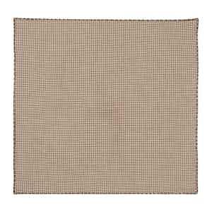 Tobacco Brown Check Cotton Pocket Square
