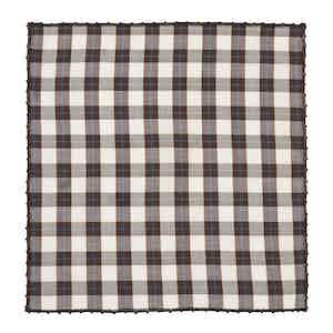 Brown Macro Check Cotton Poplin Square