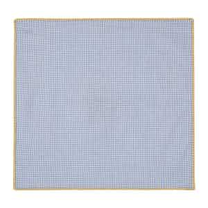 Pale Blue Zig-Zag Weave Cotton Poplin Square
