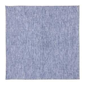 Light Blue Dotted Linen Pocket Square