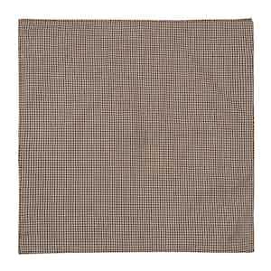 Brown Check Cotton Poplin Pocket Square