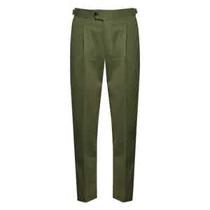 Grass Green Cotton Chinos