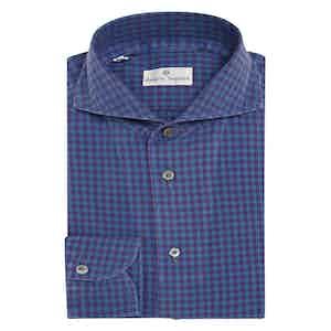 Blue Macro Check Vichy Cotton Shirt