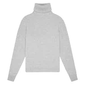 Light Grey Geelong Lambswool Hero Roll-Neck Sweater