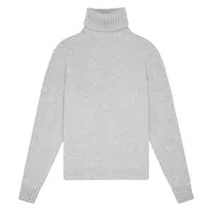 Light Grey Geelong Lambswool Hero Roll-Neck Sweater