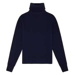 Navy Blue Geelong Lambswool Hero Roll-Neck Sweater