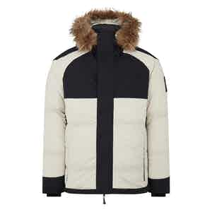 Off-White and Black Down Pilot Jacket