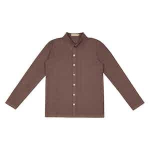 Rose Brown Japanese Serie-Knit Rallison Shirt