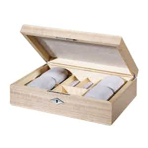 Taupe Sycamore Wood Triangle Watch Box