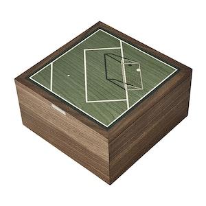 Green Walnut Football Trinket Box