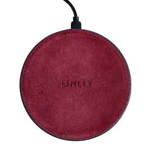 Burgundy Suede Wireless Charger