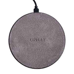 Grey Suede Wireless Charger