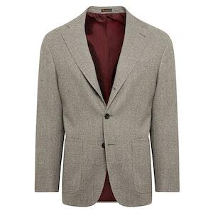 Grey Wool Single-Breasted Jacket