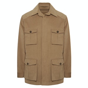 Taupe Cotton Heavy Drill Travel Jacket