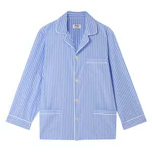 Sky Blue Pinstripe Cotton Pyjamas