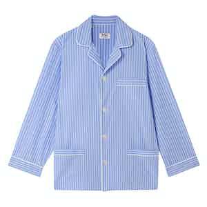 Sky Blue Pinstripe Cotton Pyjamas