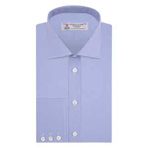 Blue Finely Checked Sea Island Quality Cotton Shirt