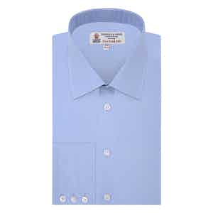Blue Two-Fold 200-Count Cotton Shirt