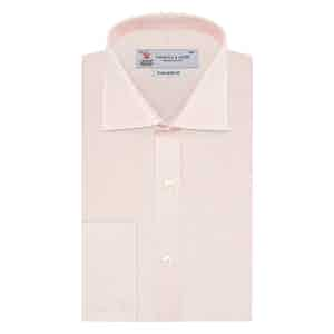 Fine Check Pink Tailored Cotton Shirt