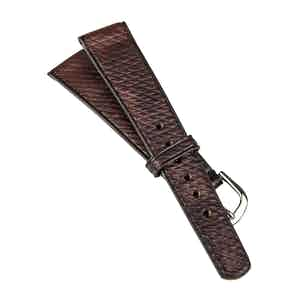 Burgundy Heritage Cuir de Russie Vintage Watch Strap