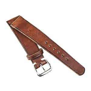 Burnished Tan Calfskin Vintage Watch Strap