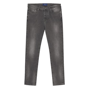 Grey Faded Wash Classic Jeans