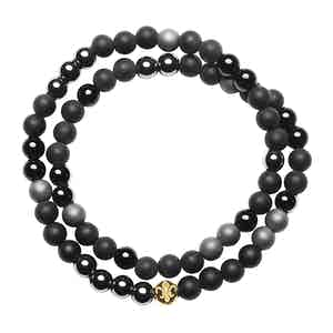 Matte Onyx, Agate and Hematite Bracelet