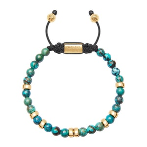 Gold and Bali Turquoise Beaded Bracelet