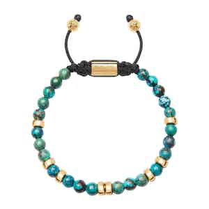 Gold and Bali Turquoise Beaded Bracelet
